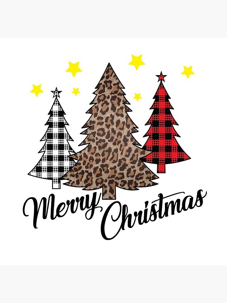 Merry Christmas Plaid Cheetah Art Board Print By Bl3designco Redbubble