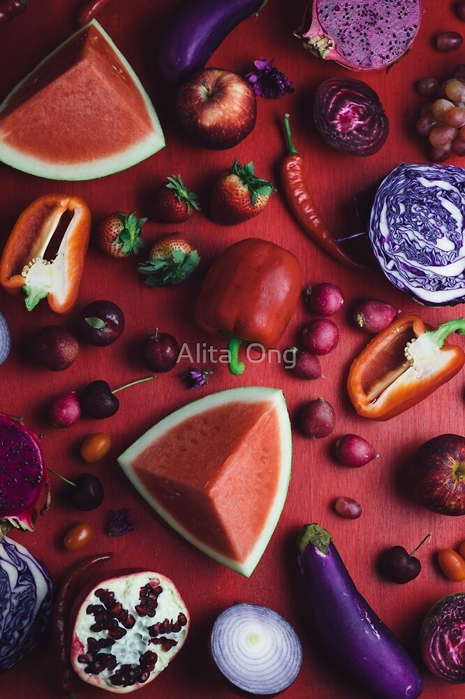 Red and purple food by Alita  Ong
