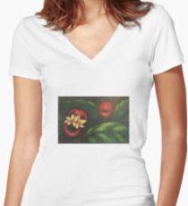 Floral Hellscape V Fitted V-Neck T-Shirt