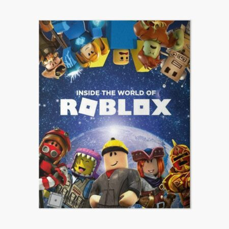 Inside the world of Roblox - Games Art Board Print