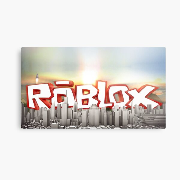 The world of Roblox - Games City Metal Print