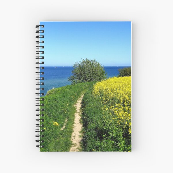 Walking along the spring cliff Spiral Notebook