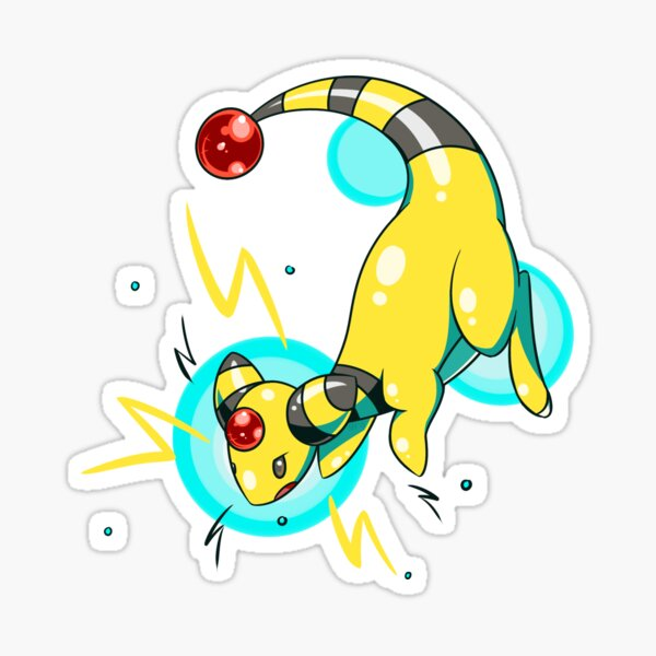 Ampharos Electric Bubbles Sticker