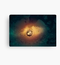 Solid. Liquid. Gas. Three Stages of Hell Canvas Print