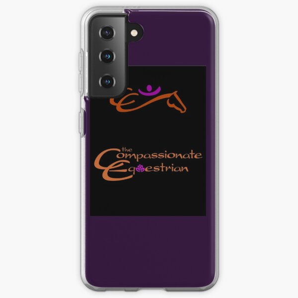 The Compassionate Equestrian text and graphic logo Samsung Galaxy Soft Case