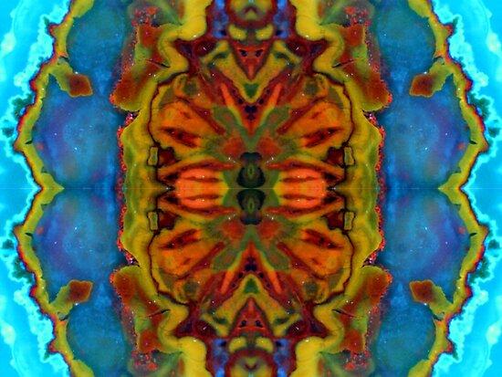Fractal Flower x4 by Stephanie Bateman-Graham