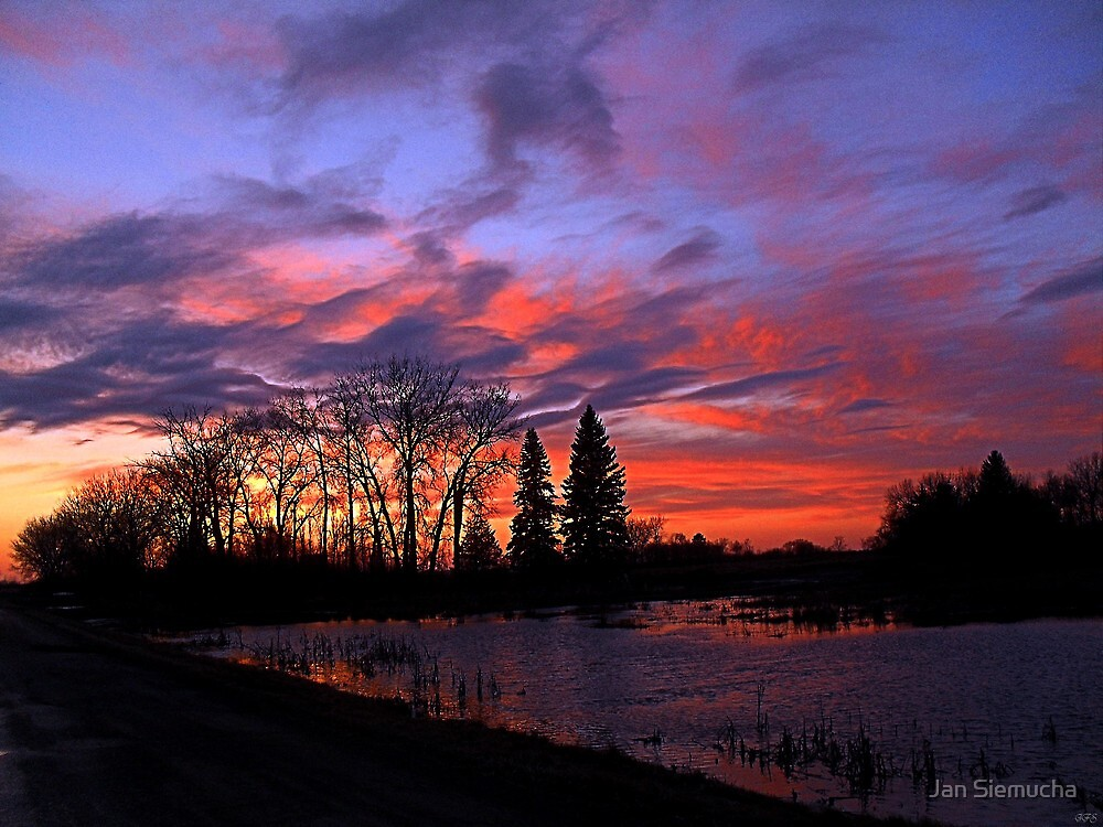 Sunset Road, First of Two Shots of Tonights Sunset ! by Jan Siemucha
