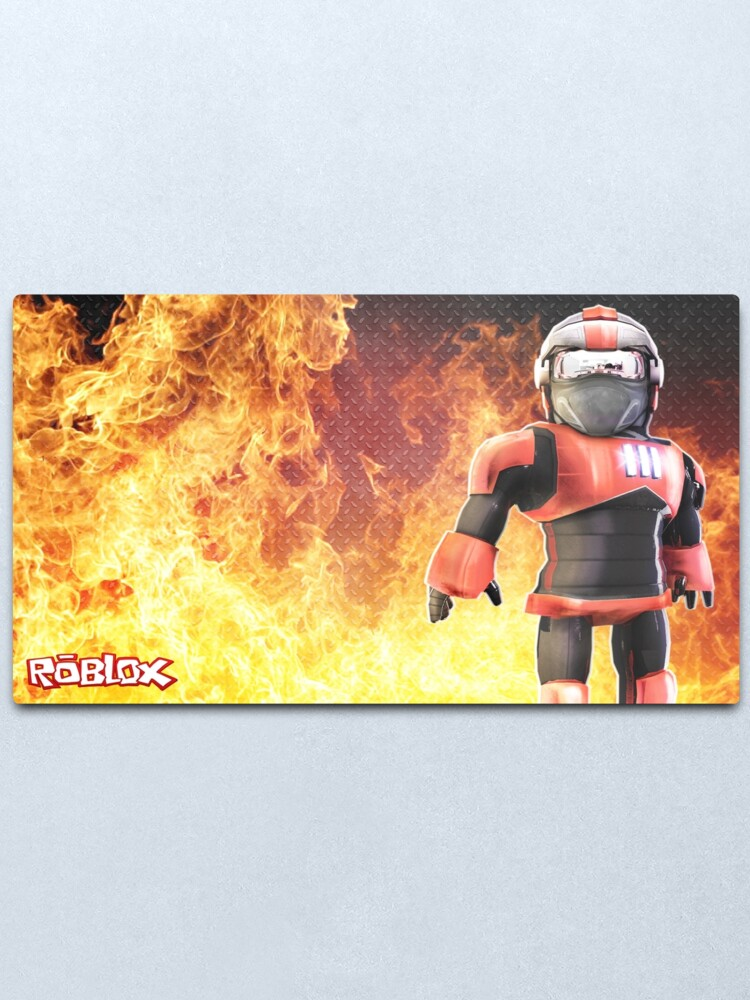 Roblox Football Jersey Roblox On Fire Metal Print By Best5trading Redbubble