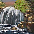 Waterfall I by CaDra