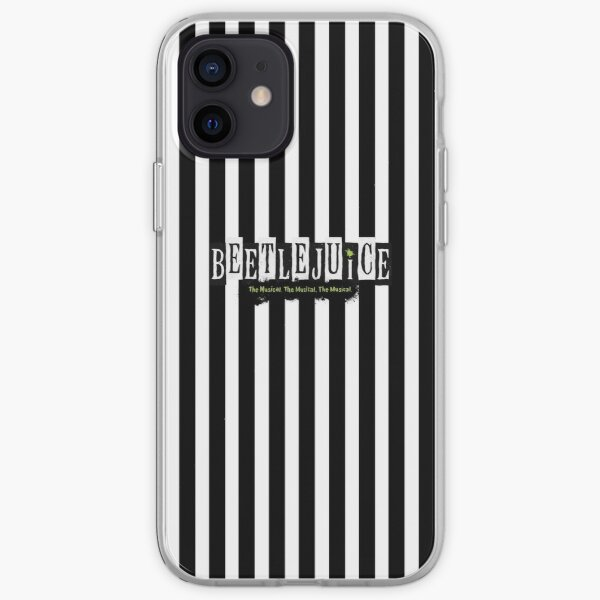 Beetlejuice Striped Musical Broadway Logo  iPhone Soft Case