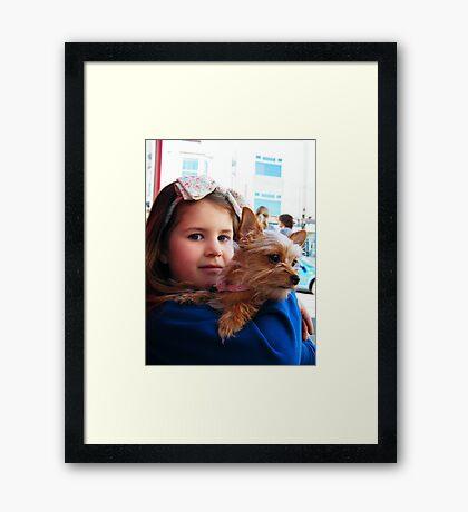 My Little Doggie Framed Print