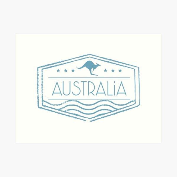 Australia Stamp Art Print