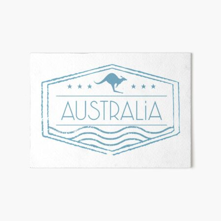 Australia Stamp Art Board Print