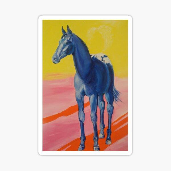 The Appaloosa Colt in Blue Sticker