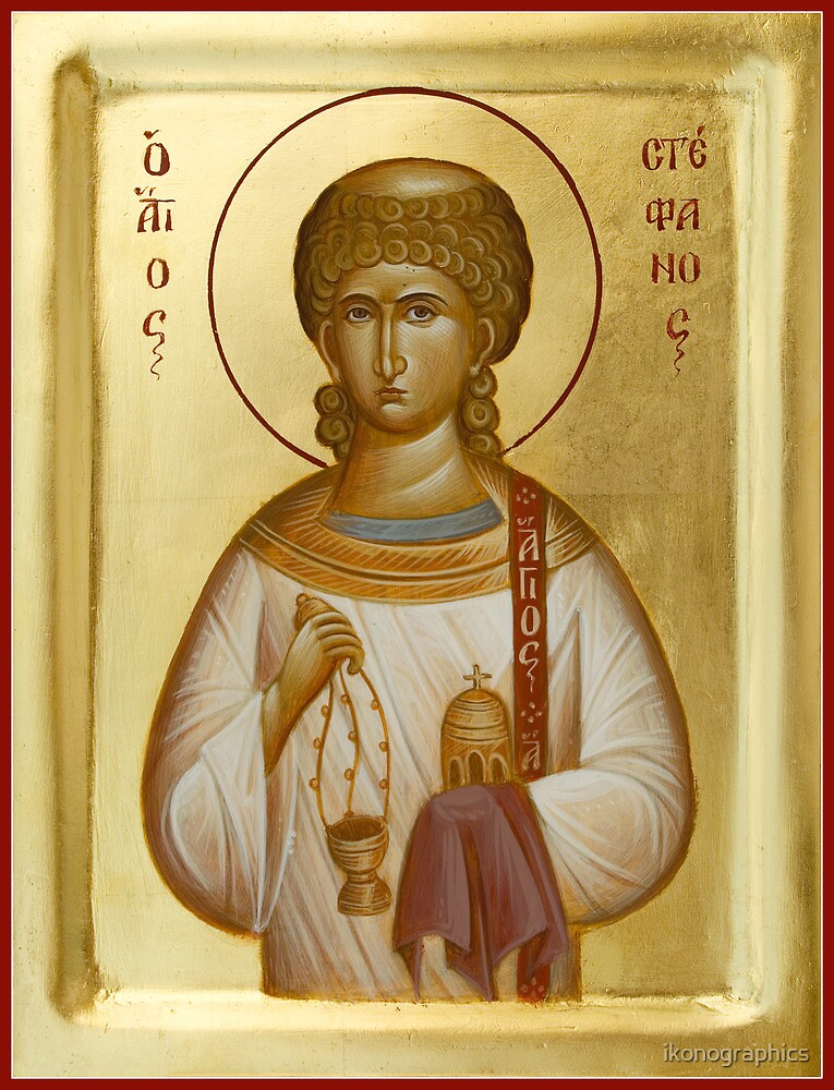 St Stephen the First Martyr and Deacon by ikonographics