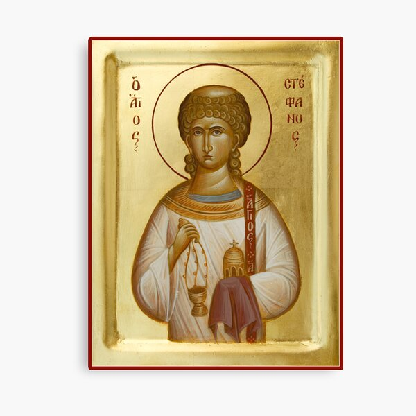 St Stephen the First Martyr and Deacon Canvas Print