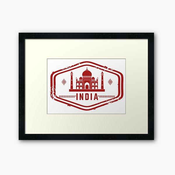 India Stamp Framed Art Print