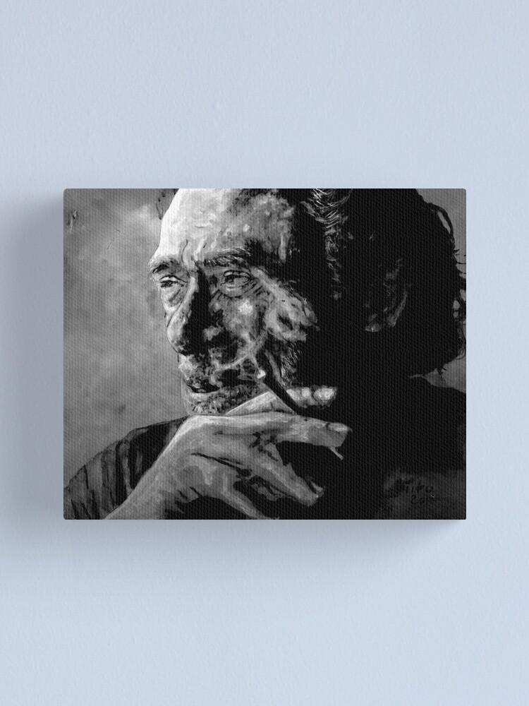 Alternate view of Charles Bukowski Canvas Print