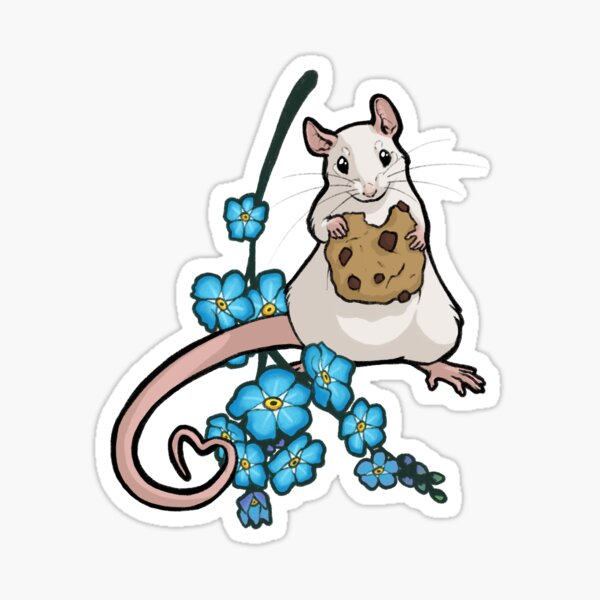 Forget Me Not 4 - white self Sticker