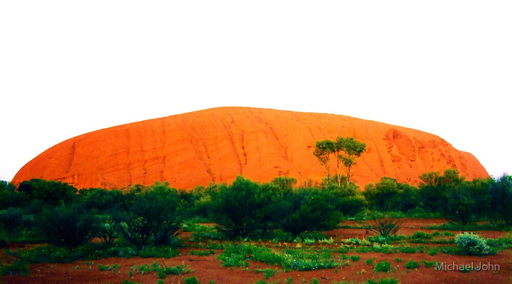 Uluru Glowing Red by Michael John