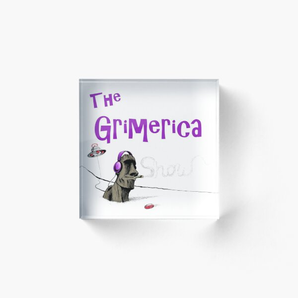 Classic Grimerica Logo (w/o background) Acrylic Block
