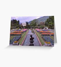 Villa Taranto, Pallanza, Lake Maggiore, Italy. Greeting Card