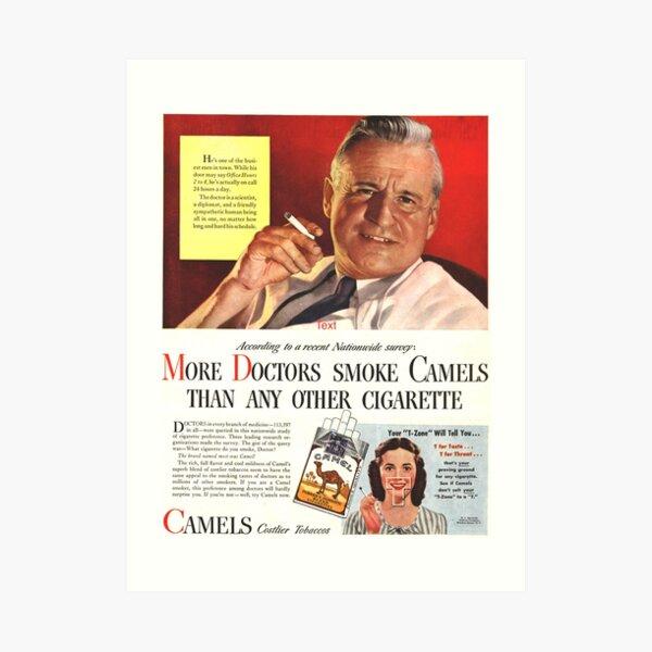 "Camel Cigarette Ad ""Doctors Smoke Camels"" Art Print"