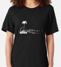 Mazooda_Island_White Slim Fit T-Shirt