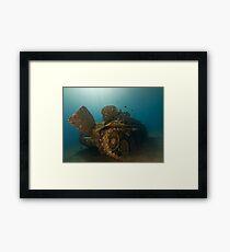 The Tank Wreck of Jordan Framed Print