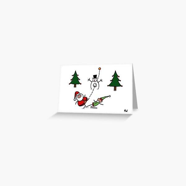 One nil Santa Greeting Card