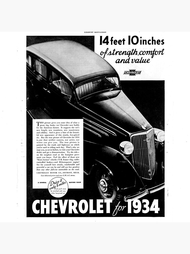 Chevrolet ad 1934; chevy by liesjes