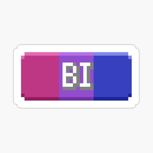 Bisexual Pride Type Tag Sticker