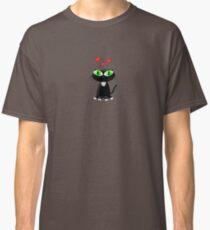 Lovely Cartoon Black Cat Classic T-Shirt