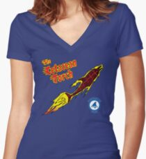The Cetacean Torch Women's Fitted V-Neck T-Shirt