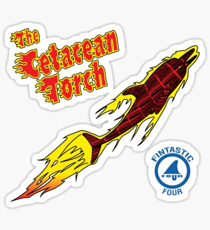 The Cetacean Torch Sticker