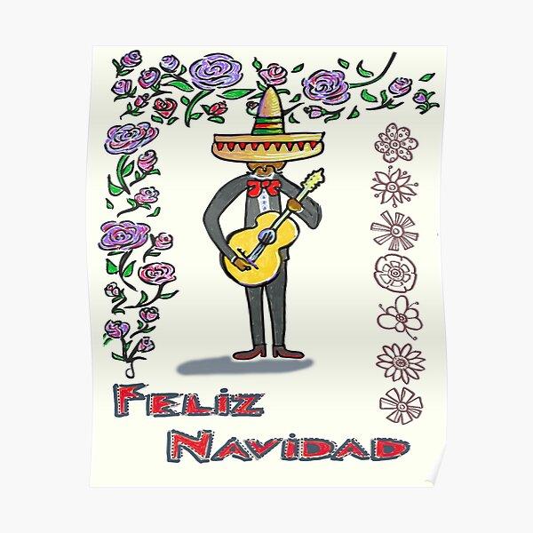 Feliz Navidad, singing christmas spanish Poster