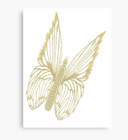 Gilded Butterfly see also Golden Butterflies Canvas Print