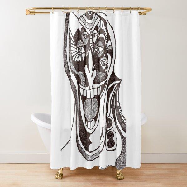Joker (original pen drawing) Shower Curtain