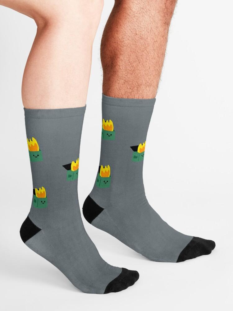 Alternate view of Happy Dumpster Fire Socks