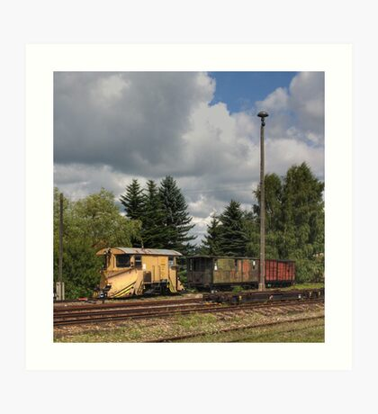 Cranzahl Station - The Snowplow Art Print