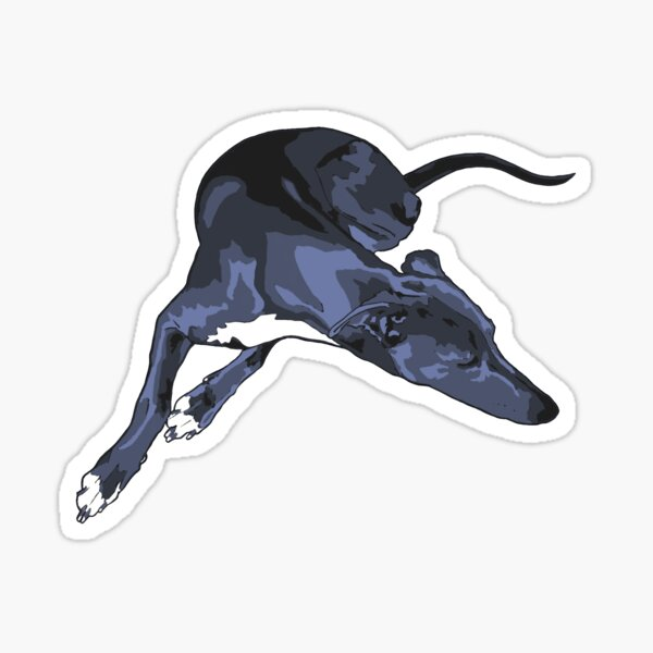 Sleeping blue grey Whippet Sticker