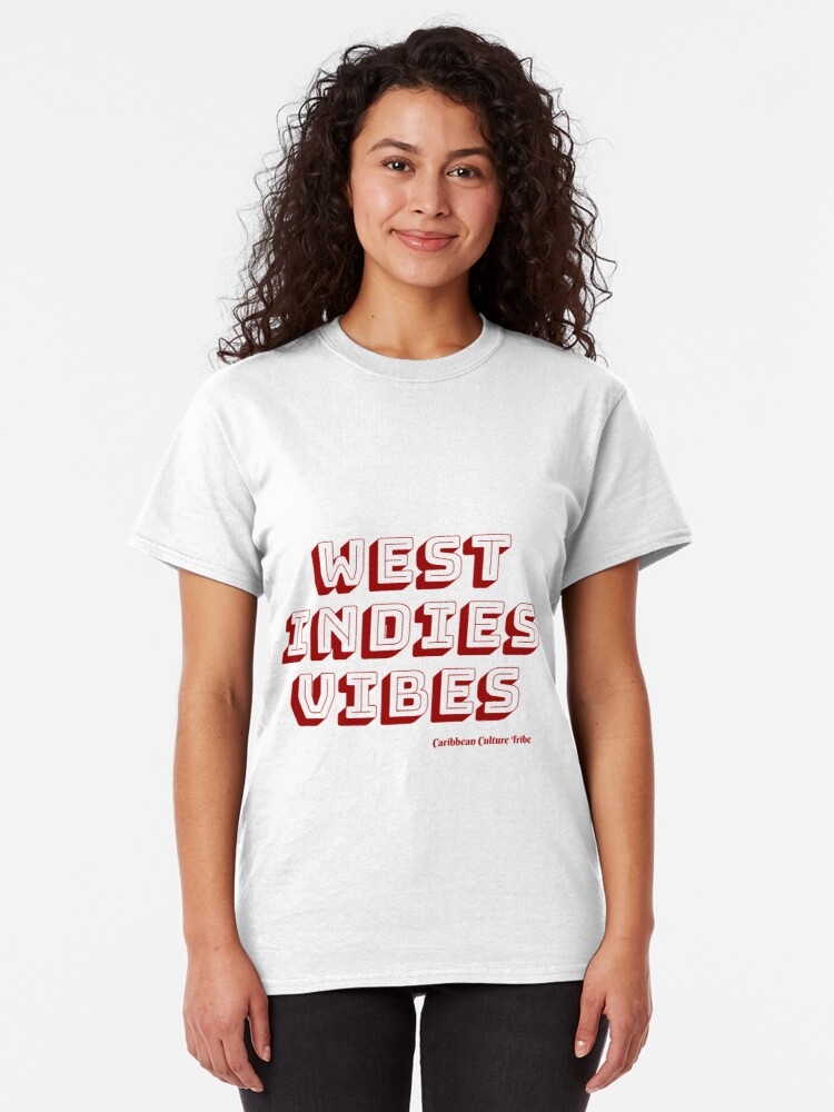Alternate view of West Indies Vibes - Red Font Classic T-Shirt