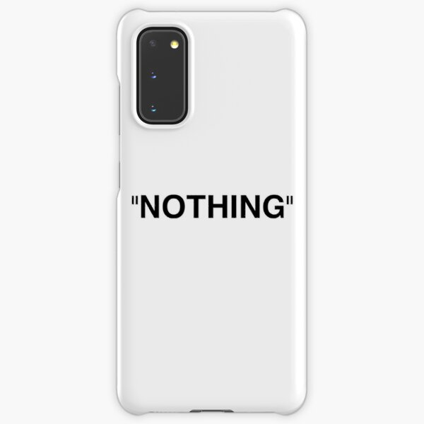 Nothing Black Samsung Galaxy Snap Case