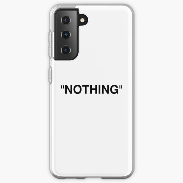 Nada negro Funda blanda para Samsung Galaxy