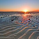 Ripple Sunset - Wellington Point Qld by Beth  Wode