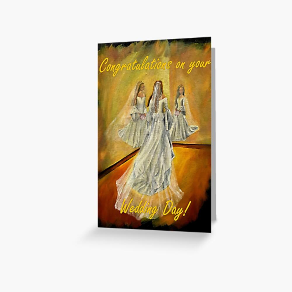 Wedding Card - Congratulations on your Wedding Day Greeting Card