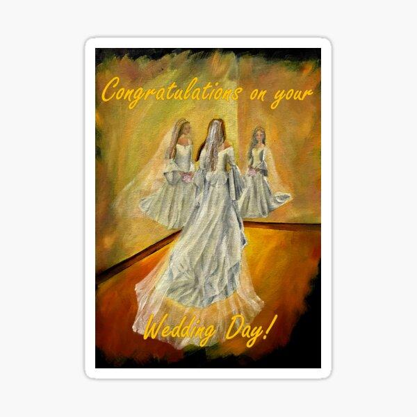 Wedding Card - Congratulations on your Wedding Day Sticker