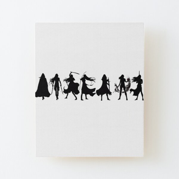 Throne of glass cover silhouettes  Wood Mounted Print