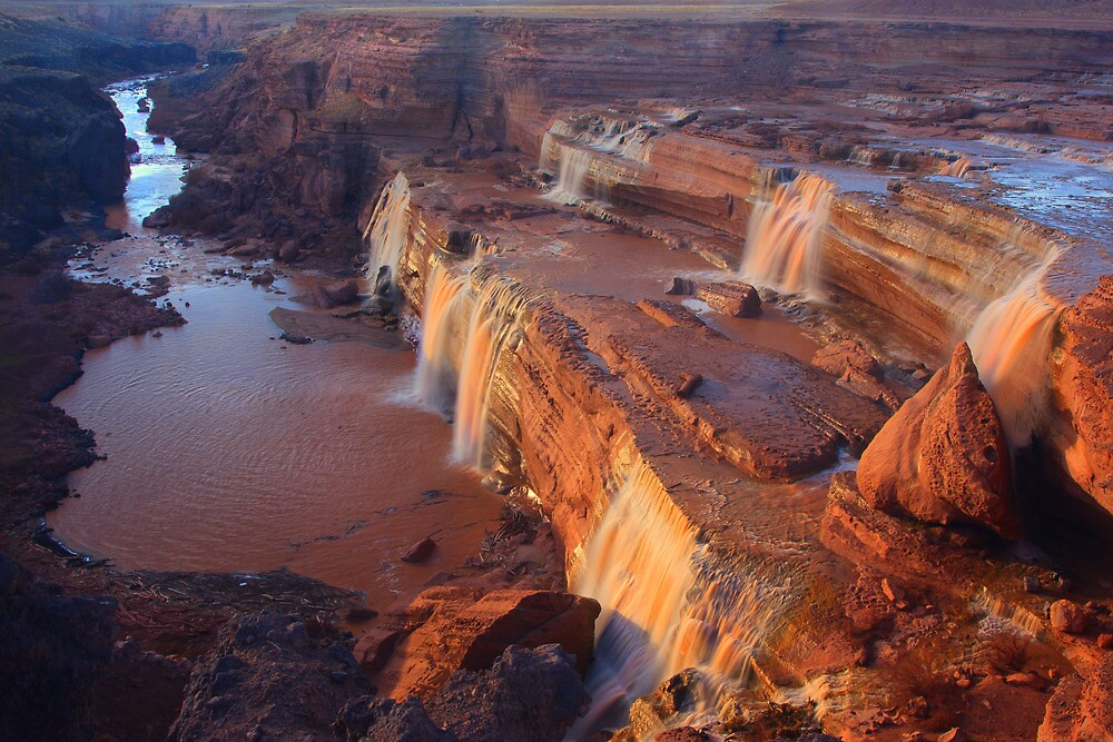 Grand Falls of the Little Colorado by Steve  Taylor