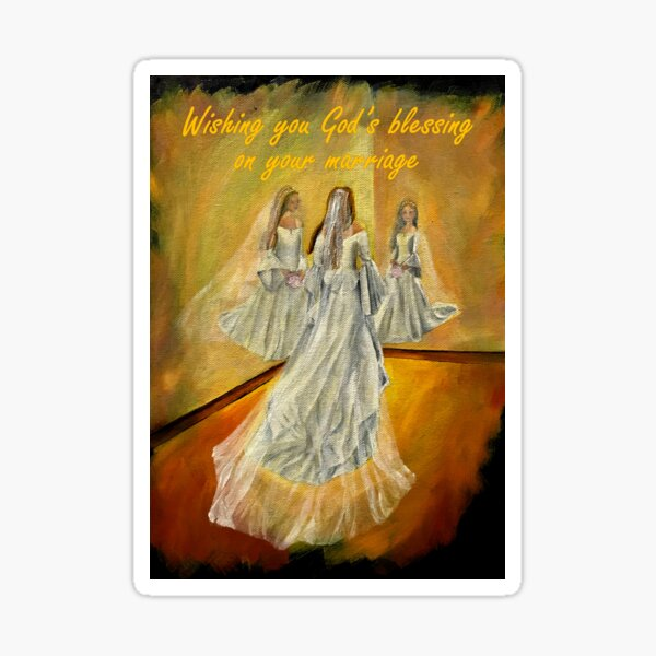 Wedding Card - Wishing you God's blessing on your marriage Sticker